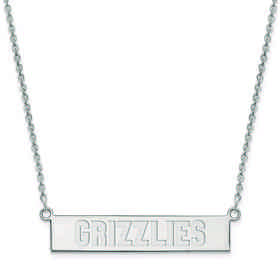 SS023GRI-18: 925 Memphis Grizzlies Bar Necklace