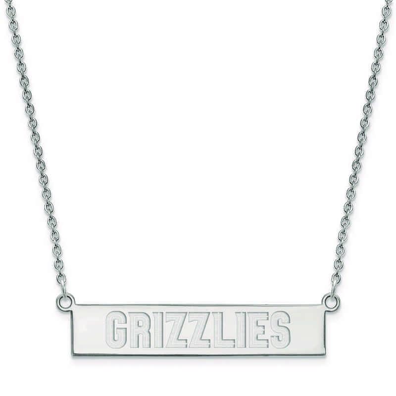 SS023GRI-18: 925 Memphis Grizzlies Bar Necklace