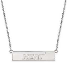 SS027HEA-18: 925 Miami Heat Bar Necklace