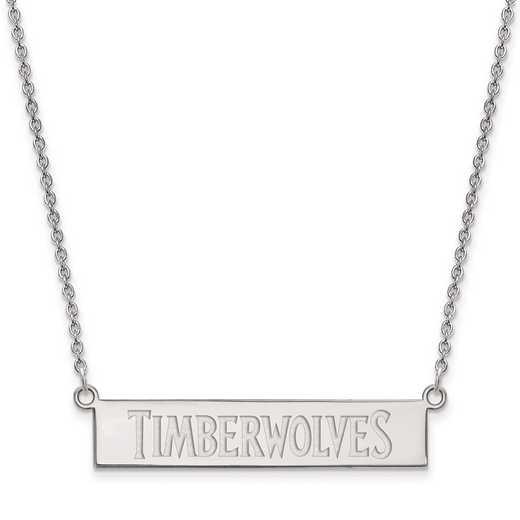 SS023TIM-18: 925 Minnesota Timberwolves Bar Necklace