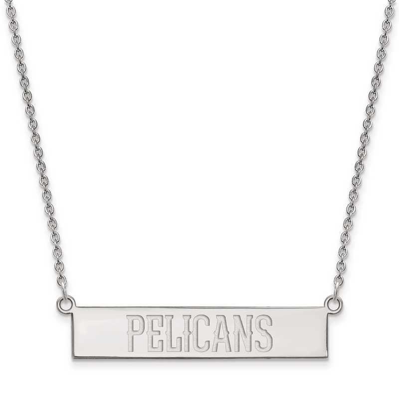SS023PEL-18: 925 New Orleans Pelicans Bar Necklace