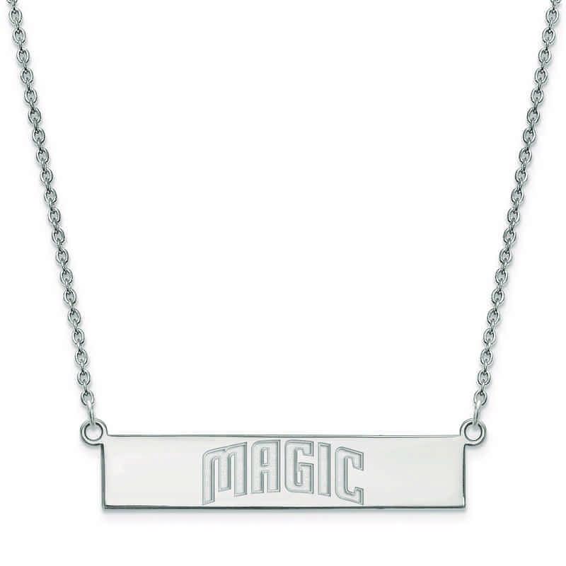 SS021MAG-18: 925 Orlando Magic Bar Necklace
