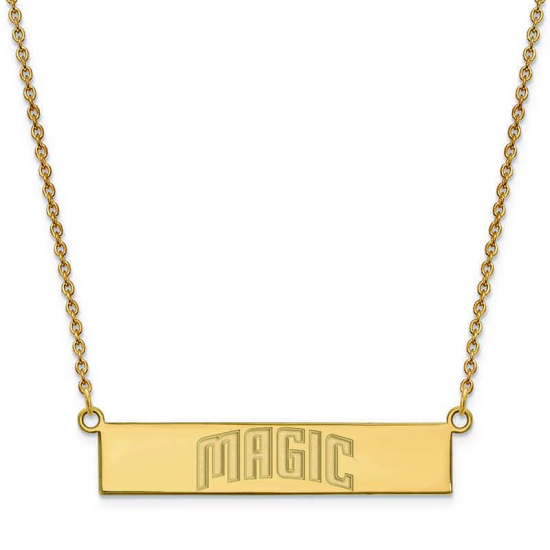 GP021MAG-18: 925 YGFP Orlando Magic Bar Necklace