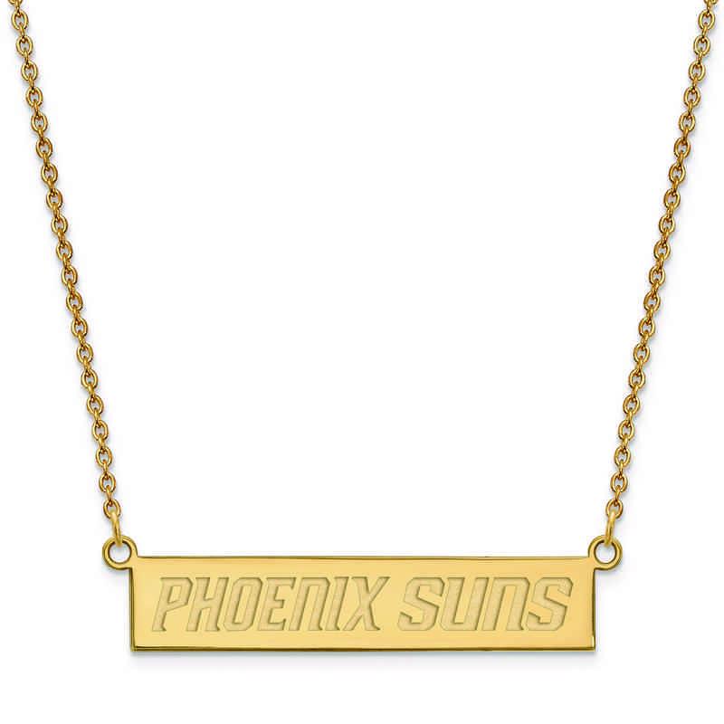 GP023SUN-18: 925 YGFP Phoenix Suns Bar Necklace