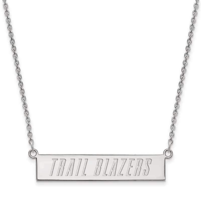 SS023TRA-18: 925 Portland Trail Blazers Bar Necklace