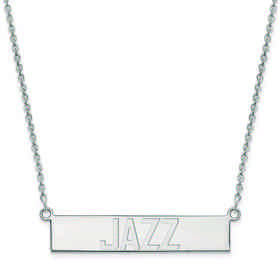 SS023JAZ-18: 925 Utah Jazz Bar Necklace