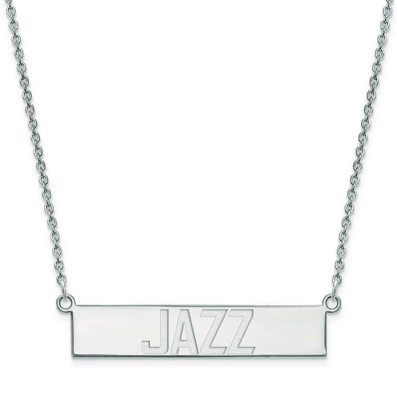 SS023JAZ-18: 925 Utah Jazz Bar Necklace