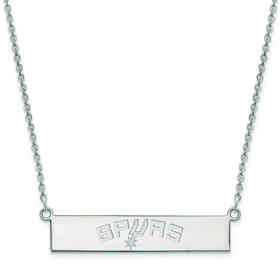 SS033SPU-18: 925 San Antonio Spurs Bar Necklace