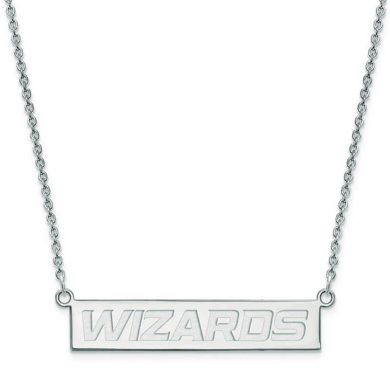 SS022WIZ-18: 925 Washington Wizards Bar Necklace