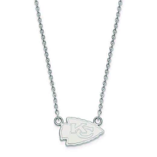 SS011CHF-18: 925 Kansas City Chiefs Pendant Necklace
