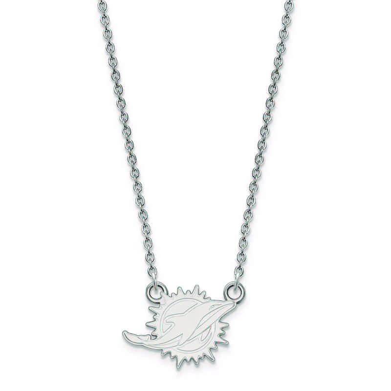 SS011DOL-18: 925 Miami Dolphins Pendant Necklace
