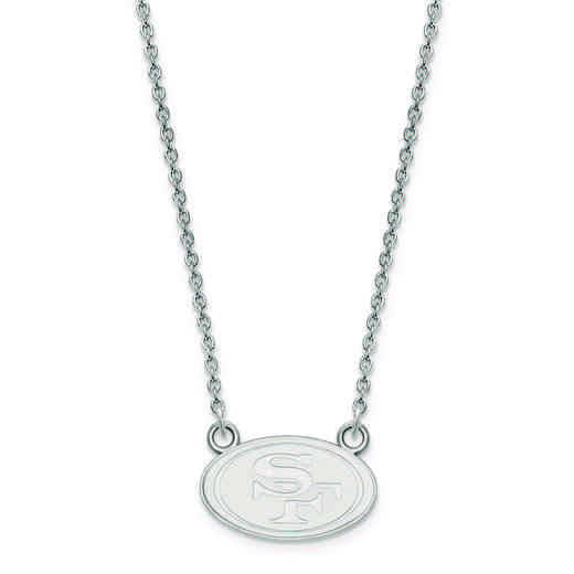 SS011FOR-18: 925 San Francisco 49ers Pendant Necklace