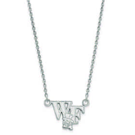 SS047WFU-18: 925 LogoArt Wake Forest Univ Pendant Necklace