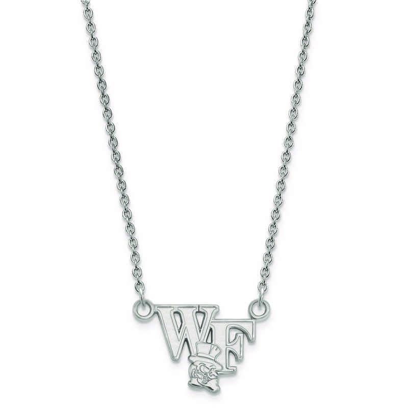 SS047WFU-18: 925 LogoArt Wake Forest Univ Pendant Necklace