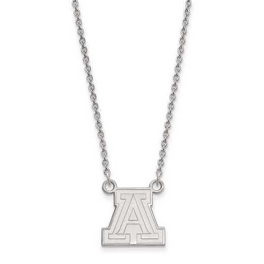 SS011UAZ-18: 925 LogoArt Univ of Arizona Pendant Necklace