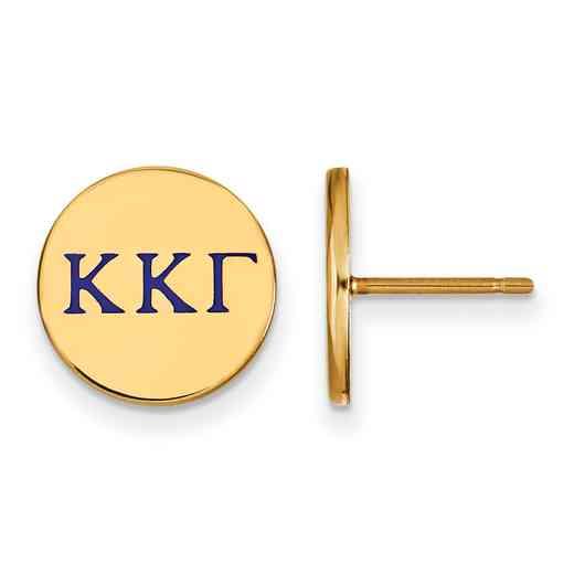 GP032KKG: 925 YGFP Kappa Kappa Gamma Enml Post Ears
