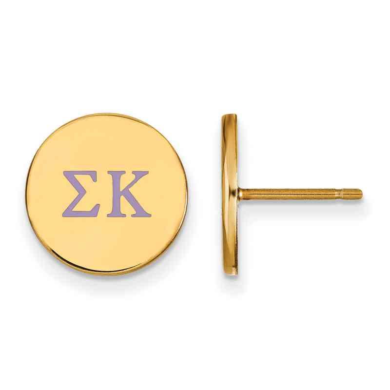 GP032SKP: 925 YGFP Sigma Kappa Enml Post Ears