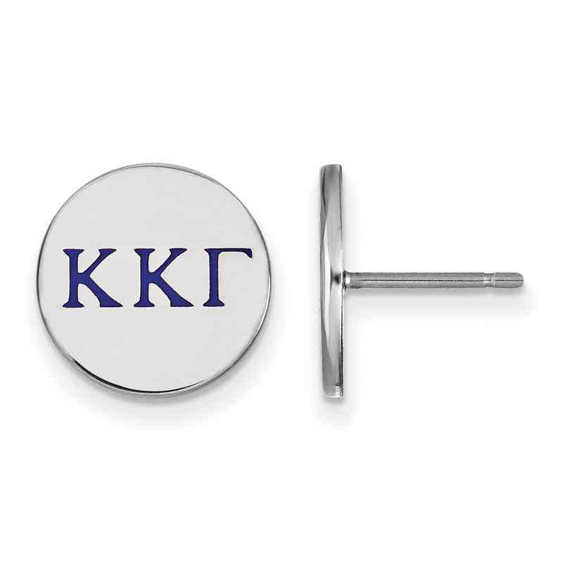 Kappa Kappa Gamma Enameled Sterling Silver Greek Post Earrings