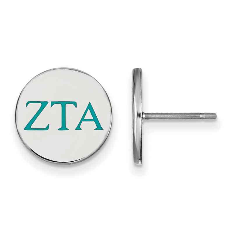 Zeta Tau Alpha Enameled Sterling Silver Greek Post Earrings