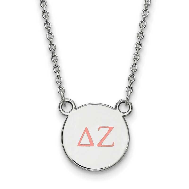 Delta Zeta Enameled Sterling Silver Greek Necklace