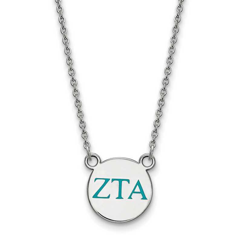 Zeta Tau Alpha Enameled Sterling Silver Greek Necklace
