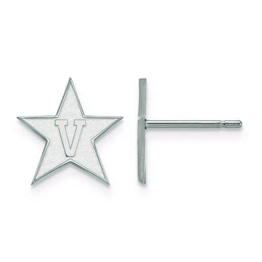SS004VAU: 925 LogoArt Vanderbilt University Post Ears