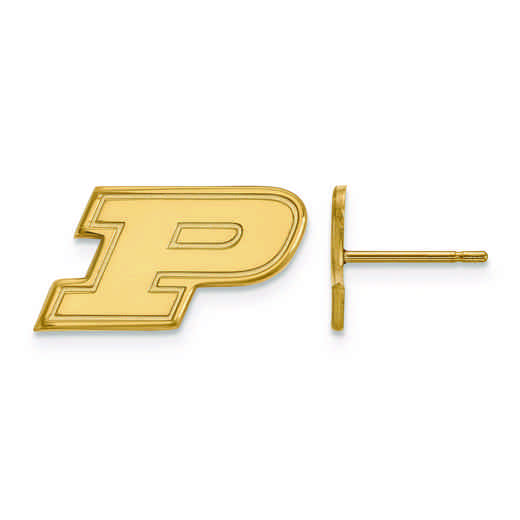 GP008PU: 925 YGFP LogoArt Purdue Post Ears