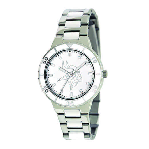 XWL760: Ladies NFL Minnesota Vikings Mother of Pearl Watch