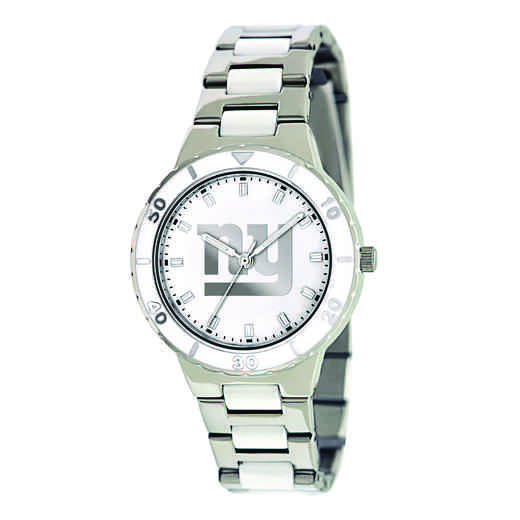 XWL763: Ladies NFL New York Giants Mother of Pearl Watch