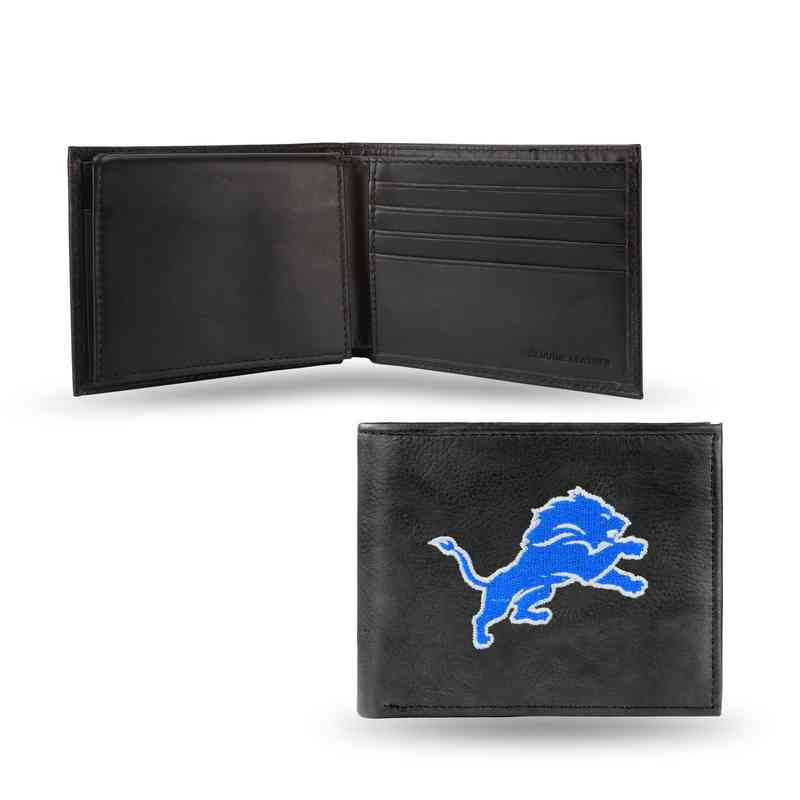 Cheap Men's Detroit Lions Embroidered Leather Billfold Wallet