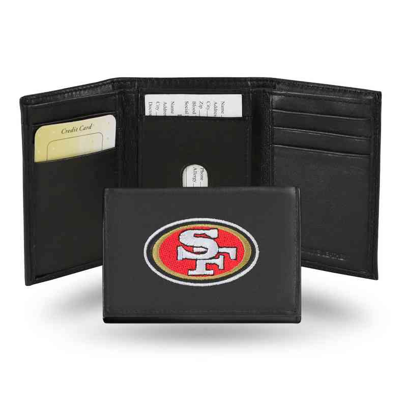 134c0f69aa3 Men's San Francisco 49ers Embroidered Leather Trifold Wallet