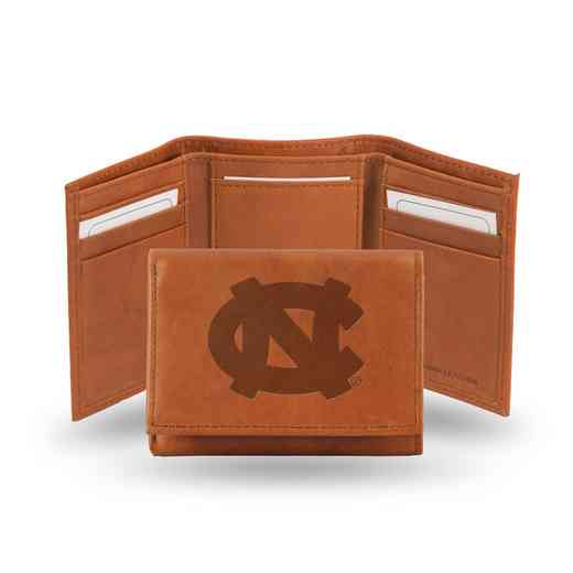 STR130102: NCAA STR Trifold Wallet, N Carolina