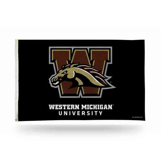 FGB220203: NCAA FGB BANNER FLAG, Western Michigan