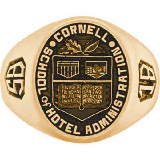Cornell School of Hotel Administration Men's Large Signet Ring