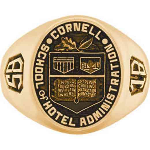 Cornell School of Hotel Administration Men's Large Signet Ring
