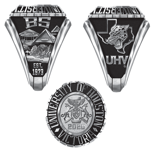 University of Houston Victoria Traditional B333L Ring