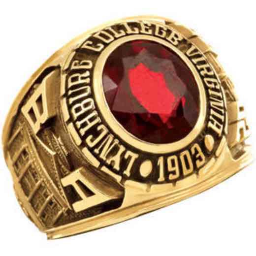 Lynchburg College Men's Large Stone Top Ring