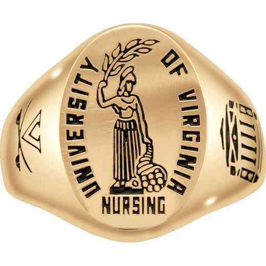 University of Virginia School of Nursing Men's Etched Signet Ring