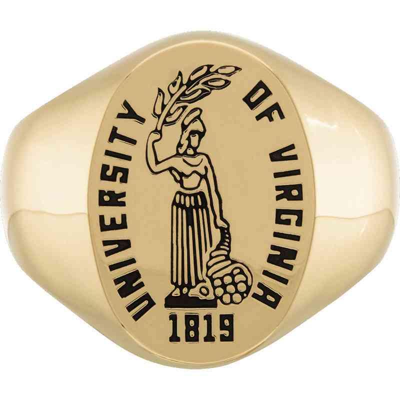 University of Virginia Men's Etched Signet Ring