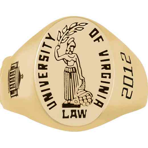 University of Virginia School of Law Men's Etched Signet Ring