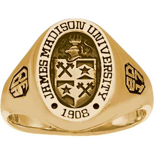 James Madison University Class of 2017 Women's 345S Signet Ring