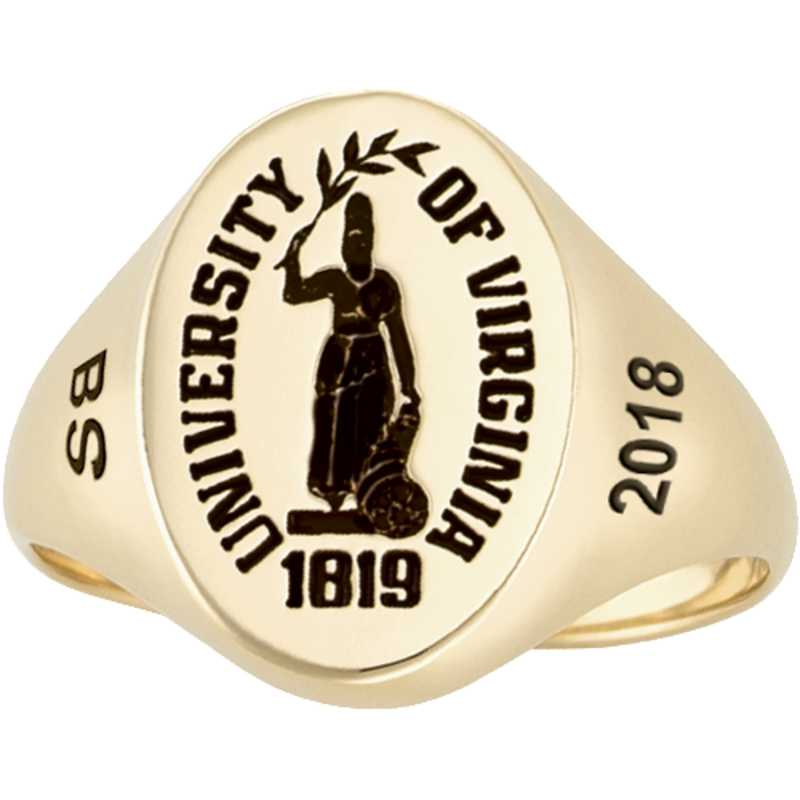 University of Virginia Women's Bold Signet Ring