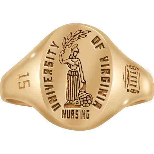 University of Virginia School of Nursing Women's Small Etched Signet Ring