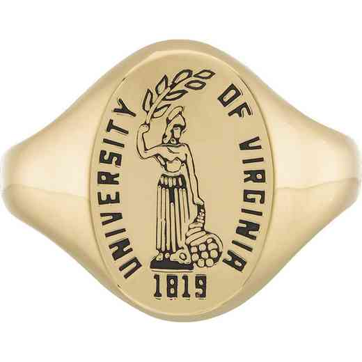 University of Virginia Women's Etched Signet Ring