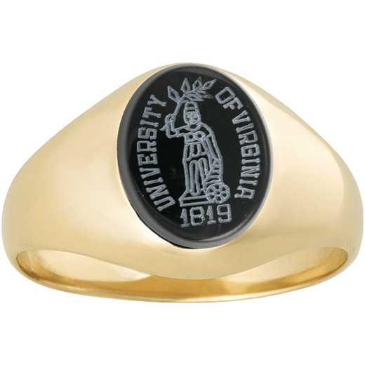 University of Virginia Women's Petite Black Onyx Top Signet Ring