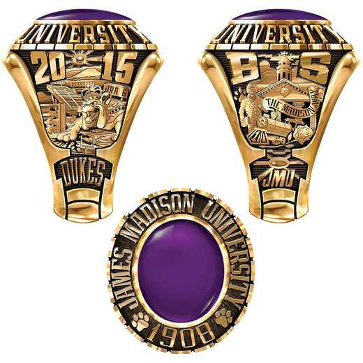 James Madison University Class Of 2015 Men's Traditional 876PL Traditional with Oval Stone