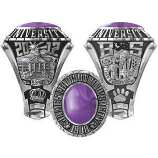 James Madison University Class Of 2012 Men's Traditional with Oval Stone