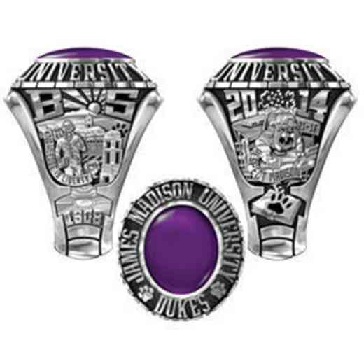 James Madison University Class Of 2014 Men's Traditional 876PL Traditional with Oval Stone
