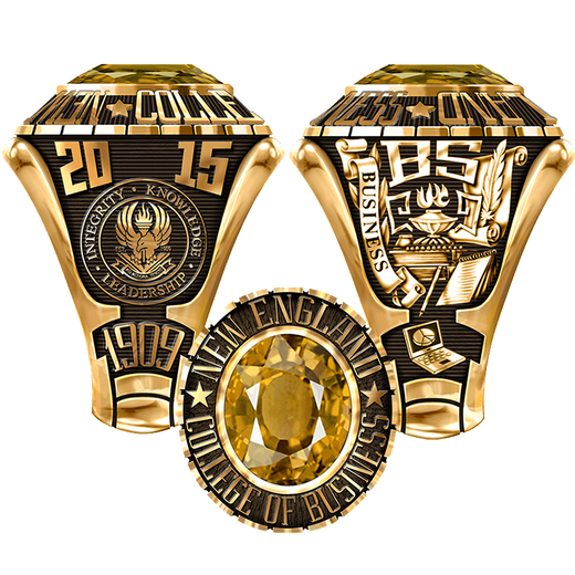 New England College of Business Men's Large Traditional Ring