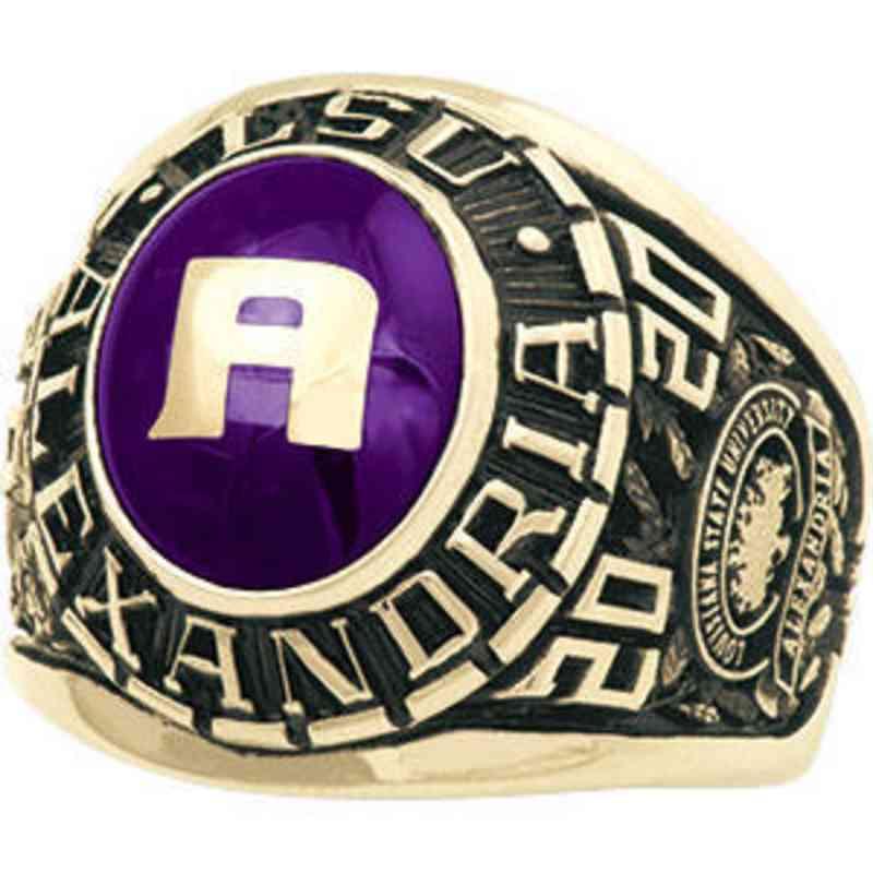 Louisiana State University at Alexandria Men's 876PL1 Ring